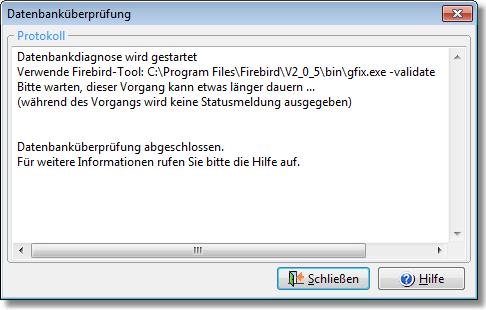 Firebird Datenbank-Diagnose