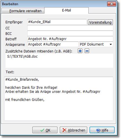 Neu Bei Amicron Faktura 11 Beim E Mailen Von Aufträgen Automatisch